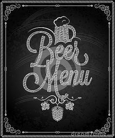 Chalkboard - frame beer menu by Benidict83, via Dreamstime