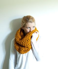 fall into winter with chunky scarves
