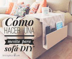 Cómo hacer una #mesa #auxiliar para #sofa #DIY #howto