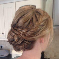 Wedding hair plaits braids Braid up do Plait hair up Bridesmaid hair ideas Bride