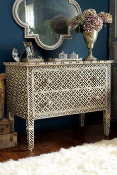 Marrakesh Inlay Chest - 2 Drawer Chest, Bone Inlay Chest, Mango Wood Chest   Soft Surroundings