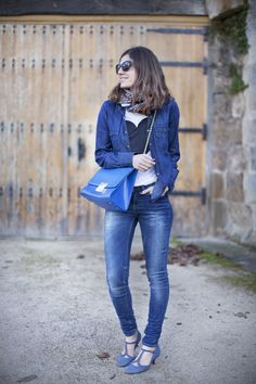 Total Denim. Street style outfits. Looks de street style. Fashion Blogger.