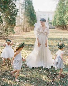 - Repinned by Prindler Productions - We are truly enthralled by the Clare gown from @_emilyriggsbridal. All of the embroidery is hand cut and sewn by hand and pairs well with many of her soft tulle skirts! Can you imagine wearing this beautiful wedding dress on your #wedding day? #FineArtCuration Photo: @lauragordon for @wrenbridal See more from Emily Riggs through our Vendor Guide: DIRECT LINK IN PROFILE #weddingideas #weddingdress #WSloves