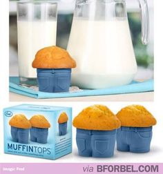 "Omg ""MUFFIN TOP"" JEANS BAKING CUPS. DYING. Perfect gift for friends."