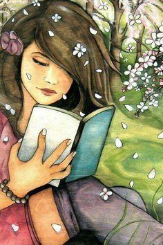Frühlings-Buch-Gefühle