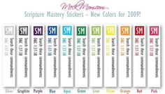 Scripture Mastery Stickers