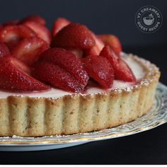 Mascarpone Cheesecake Tart with Rosemary-Kissed Strawberries — Lillie Auld, Butter Me Up Brooklyn!