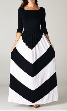 Womens Chevron Quarter Sleeve Maxi Dress. - Apostolic Clothing #modest #dresses - womens clothing s, womens clothing boutique, shops womens clothing