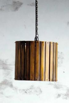 Yardsticks and Rulers Upcycled pendant light