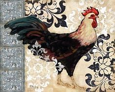Painting - Renaissance Rooster I by Paul Brent