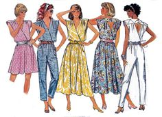 80s Dress and Jumpsuit Butterick 5603 by allthepreciousthings, $14.00