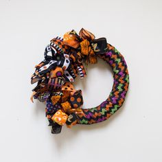 Halloween Ribbon Wreath | Floral & Ribbon | Carolina Pottery