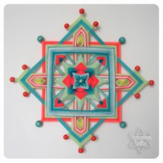 Mandala Painting, Mandala Art, Yarn Crafts, Fabric Crafts, Los Dreamcatchers, God's Eye Craft, Tibetan Mandala, Inkle Loom, Gods Eye