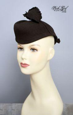 1940's Brown Tilt Top Hat