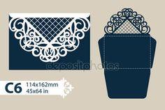 Descargar - Envolvente de felicitación de plantilla con el patrón calado tallado — Ilustración de stock #117352266