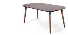 Edelweiss Extending Dining Table, Walnut and Black | made.com 399 Pfund