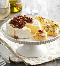 Pecan- and Cherry-Topped Brie  from the Better Homes and Gardens Must-Have Recipes App
