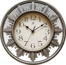 Infinity Instruments City Road 12 inch Wall Clock, Silver