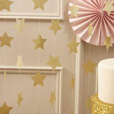 Gold Star Sparkling Garland – The Original Party Bag Company
