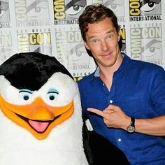 """BC, 7-24-14, ComiCon, San Diego, """"Penguins."""" With one!"""