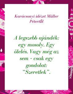 Karácsonyi idézet Müller Pétertől 2 Card Sayings, Easy Drawings, Back To School, Scrapbook, Thoughts, Humor, Motivation, Math, Words