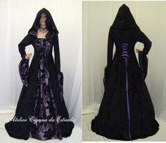 Vestido de Bruxa Medieval