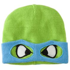 Men's Ninja Turtle Knit Cap with Mask - Assorted Colors