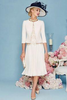 Princess Jewel Tea-length Chiffon Mother of the Bride Dress