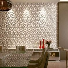 from - Dining Room, with Daniela Marcon Details of the Project Tv Wall Decor, Room Decor, Mdf Wall Panels, Accent Wall Designs, Tv Wall Design, Small Apartment Decorating, Wall Cladding, Interior Walls, 3d Wall