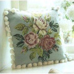 Twilleys-Tapestry-Cushion-Front-Kit-Rose-Spray-Complete-Kit-1607-0001DRK
