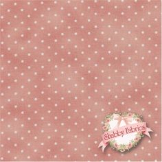 "Christmas Classics 609-P by Maywood Studio Fabrics: Christmas Classics is a collection by Maywood Studio Fabrics. 100% cotton. 43/45"". This fabric features small dots on a pink background."