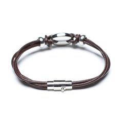 genuine leather cords bracelet 00615