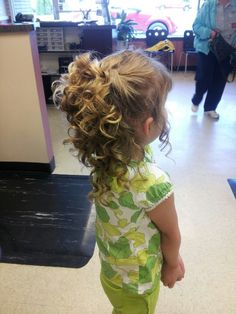 Flower girl updo by Abby Bancroft