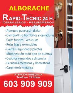 Cerrajeros Alborache Fontaneros Electricistas 603 932 932