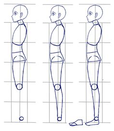 female anime side view body tutorial