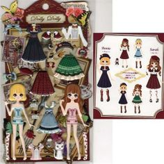 Q-Lia Dolly Dolly Colorforms Stickers with Jewels: Annie & Sarah