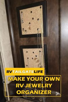 Need an effective way to store and display jewelry in your RV? Prevent necklaces from getting tangled by hanging them on the RV wall! Make your own DIY RV Jewelry Organizer. Find out how at RV Tailgate Life!