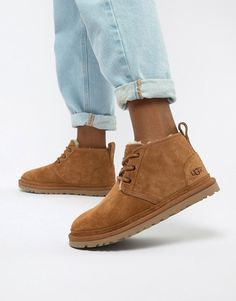 Buy UGG Neumel Chestnut Lace Up Ankle Boots at ASOS. Get the latest trends with ASOS now. Ugg Ankle Boots, Ugg Shoes, Shoe Boots, Ankle Booties, Yellow Boots, Grey Boots, Winter Leggings, Style Grunge, Soft Grunge