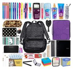 A fashion look from September 2015 featuring Victoria's Secret backpacks, MICHAEL Michael Kors wallets and Casetify tech accessories. Browse and shop related l…- Tap the link now to see our super collection of accessories made just for yo School Emergency Kit, School Survival Kits, School Kit, School Bags, Diy School, Survival Tips, Back To School Supplies For Teens, College School Supplies, Cute School Supplies