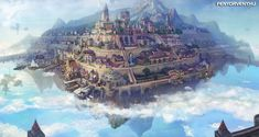 Floating City In The Sky Wallpapers - Best HQ images Fantasy City, Fantasy Castle, Fantasy Places, Sci Fi Fantasy, Fantasy World, Fantasy Dragon, City Landscape, Fantasy Landscape, Dreamland