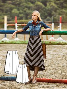 Asymmetric Midi Skirt 08/2015 #burdastyle #sewingpattern #diy #sewing