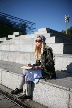 Outside the Paris shows