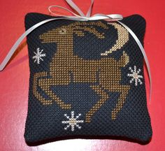 Cross Stitch Ornament Reindeer by lovemypaperaddiction on Etsy, $9.99