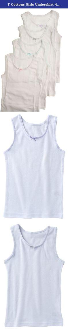 White Jack /& Jill Underwear Girls Top Camisole-3 Pack-White