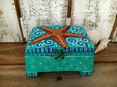 Hey, I found this really awesome Etsy listing at https://www.etsy.com/listing/464537217/hand-painted-starfish-wooden-box-for