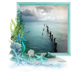 """""""'F' Frame It... The Sea"""" by marvy1 ❤ liked on Polyvore featuring art"""