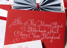 calligraphy on red envelope
