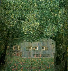 Gustav Klimt : Farmhouse in Upper Austria, 1911