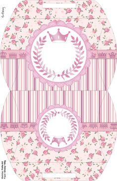 Caja almohada rosa