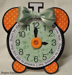 Alarm clock shaped card